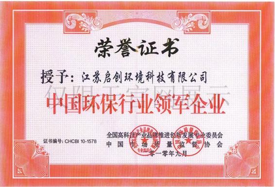中国环保行业领军企业